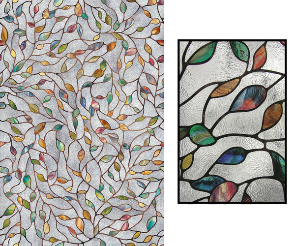 "Artscape® 02-3021 New Leaf Design Window Film, 24"" x 36"""