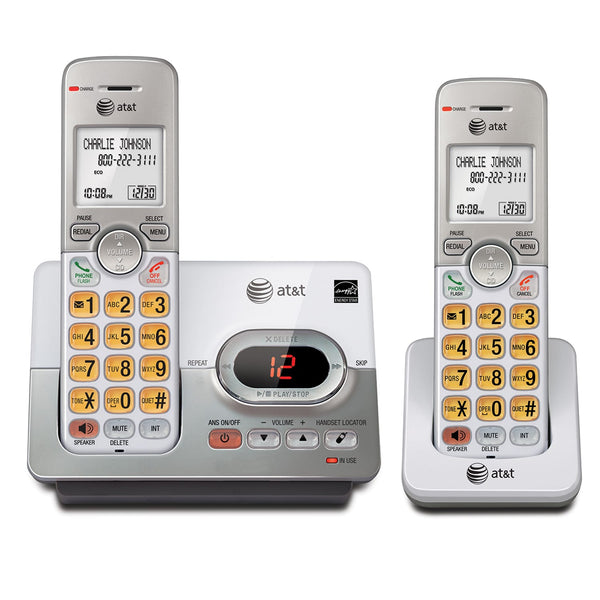 AT&T® EL52203 Two-Handset Cordless Answering System with Caller Id/Call Waiting