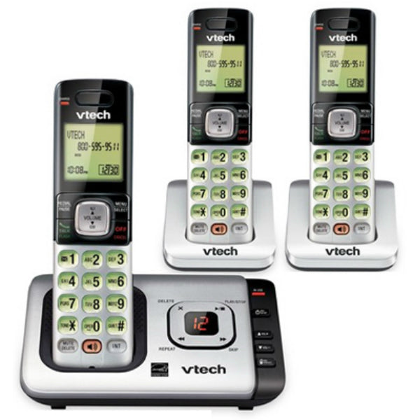 Vtech® CS6729-3 Cordless Answering System w/Caller ID/Call Waiting, 3-Handset