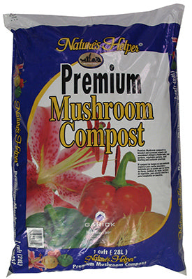 Nature's Helper® BG1CFMCNH-MW Premium Mushroom Compost, 1 Cu.Ft.