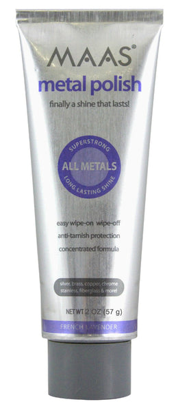 MAAS® 91403 Metal Polish Tube with French Lavender Scent, 2 Oz