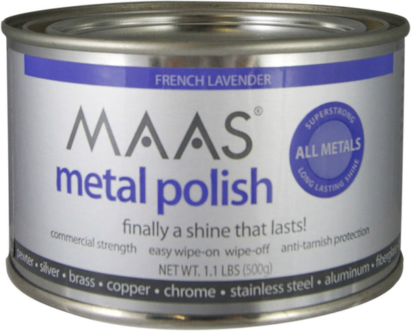 MAAS® 91404 Metal Polish Can, French Lavender Scent, 1.1 Lb