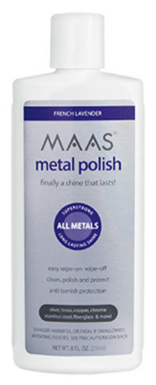 MAAS® 91411 Metal Polish Liquid with French Lavender Scent, 8 Oz