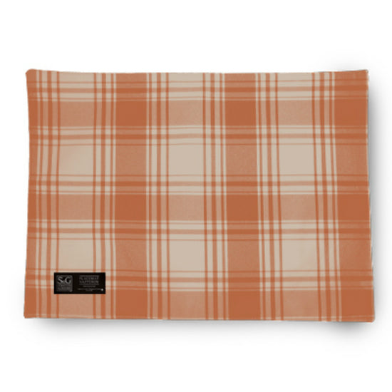 "Myles TCY60345PM American Plaid Placemat, 18"" x 13"", Burnt Orange/Beige"