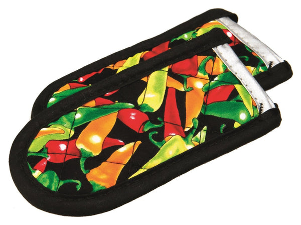 Lodge 2HHMC2 Multi-Color Chili Pepper Print Hot Handle Holder Set, 2-Pack