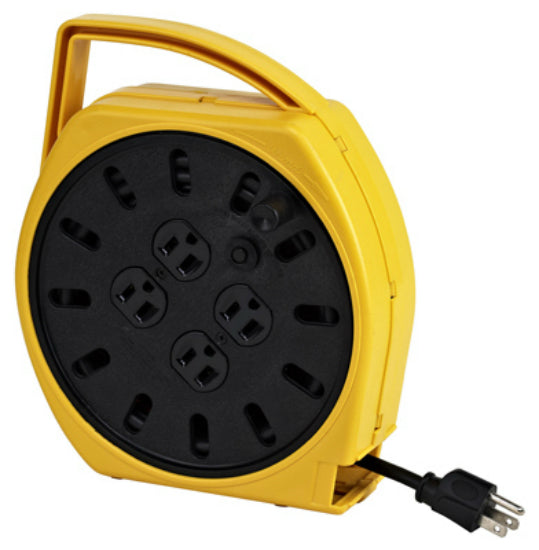 Alert Stamping 6000-25G Multi-Outlet Manual Extension Portable Cord Reel, 25'