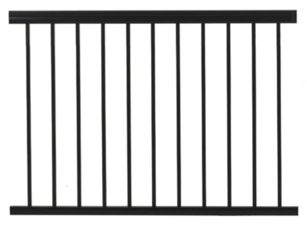 Gilpin 619031B Summit Aluminum Railing, Black, 4'