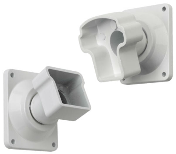 Gilpin 629064W Summit Aluminum Rail Mount Adjustable Brackets, White