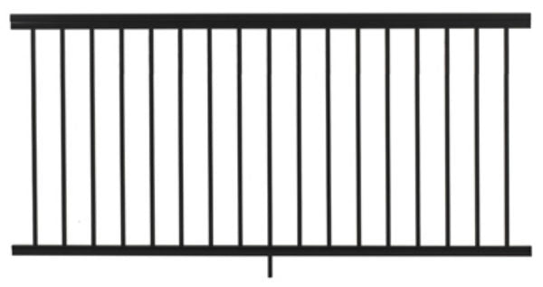 Gilpin 619051B Summit Aluminum Railing, Black, 6'