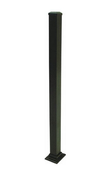 Gilpin 629036FB Summit Aluminum Newel Post with Welded Flange, Black, 37""