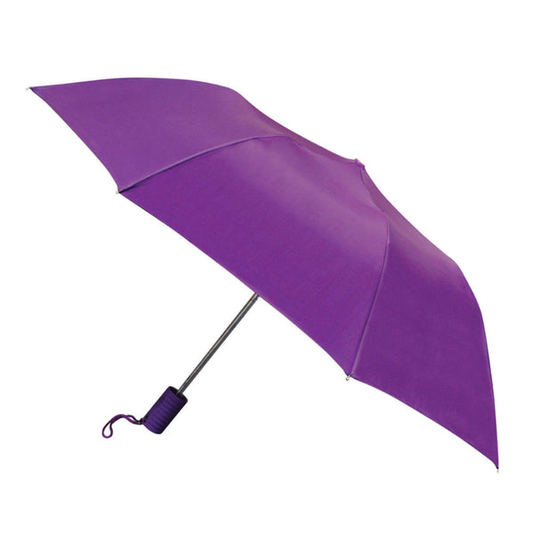 "WeatherZone® 1201 Folding Automatic Umbrella, Assorted Colors, 42"" Coverage"