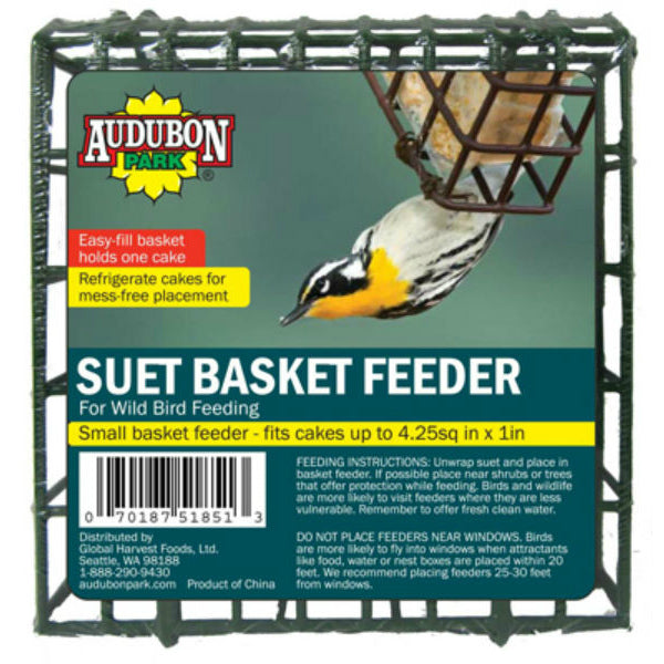 Audubon Park® 1841 Suet Basket Feeder Cage for Wild Bird Feeding, Metal