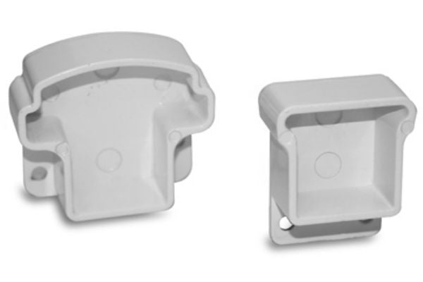 Gilpin 629065W Summit Aluminum Fix Rail Mount Brackets, White