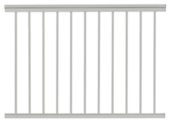 Gilpin 619031W Summit Aluminum Railing, White, 4'