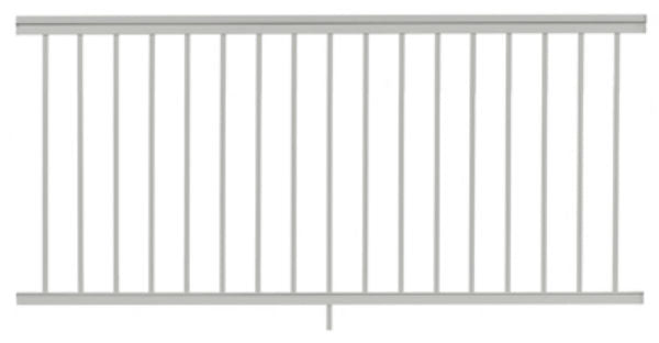 Gilpin 619051W Summit Aluminum Railing, White, 6'