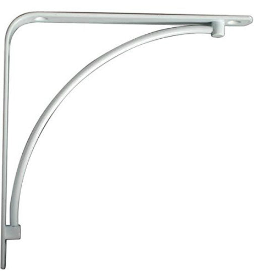 "Knape & Vogt® 200M-WH-8 Manchester Decorative Steel Shelf Bracket, 8"", White"