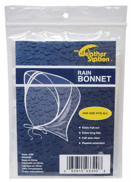 WeatherStation® 3300 Rain Bonnet, One Size