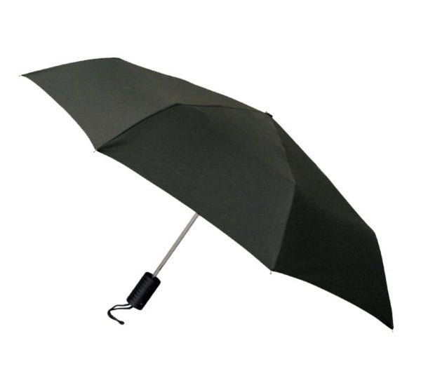 "WeatherZone® 1101 Folding Automatic Umbrella, Black, 42"" Coverage"