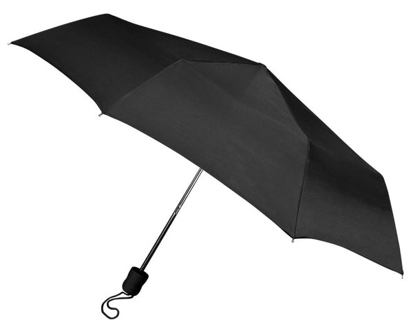 "WeatherZone® 813 Manual Super Mini Umbrella, Black, 42"" Coverage"