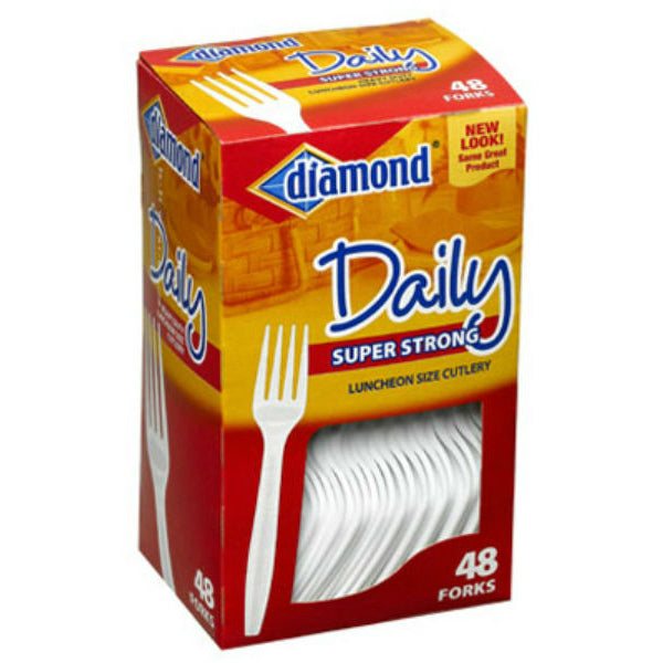 Diamond® 41426-00115 Daily™ Super Strong Luncheon Size Cutlery Forks, 48-Count
