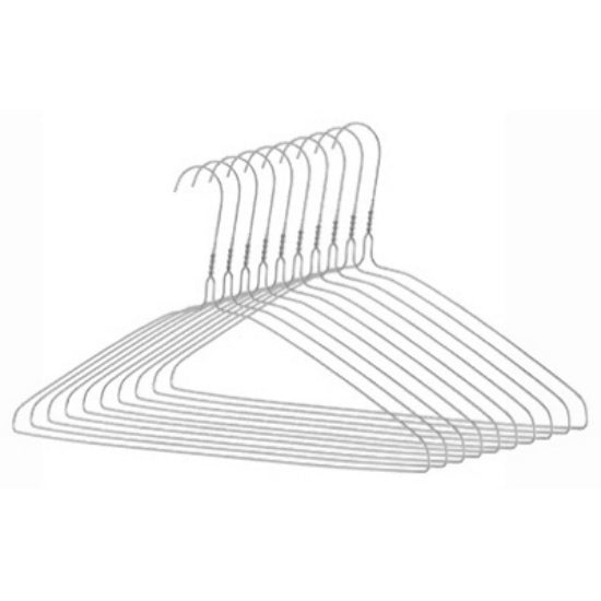 Whitmor® 6060-5086-10 Everyday Clothes Hanger, Chrome, 10-Pack