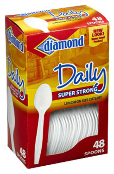 Diamond® 41426-00114 Daily™ Super Strong Luncheon Size Cutlery Spoons, 48-Count