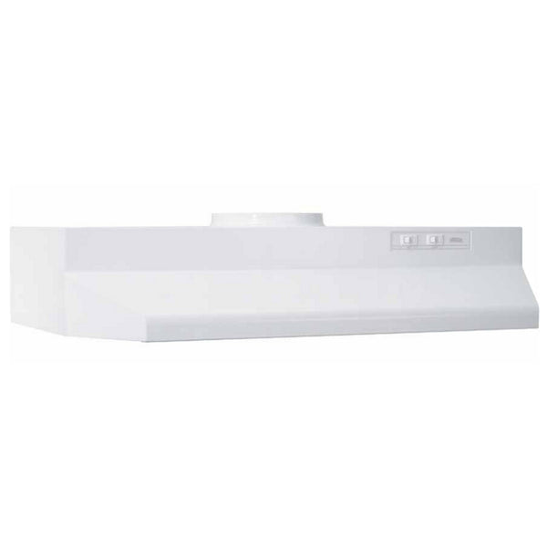 "Broan 423601 Round Ducted Under Cabinet Range Hood, 36"", White, 190 CFM"