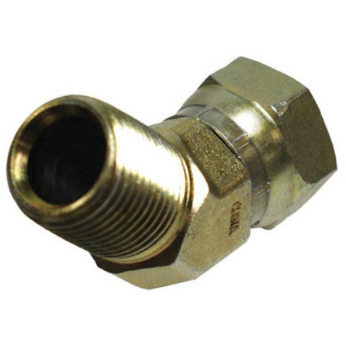 "Apache 39005550 45-Degree Hydraulic Hose Adapter, 1/2""MP x 1/2""FPX"