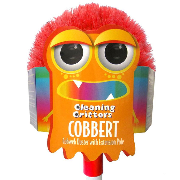 Ettore® 32000 Cleaning Critters Cobbert™ Cobweb Duster w/ Extension Pole, 59""