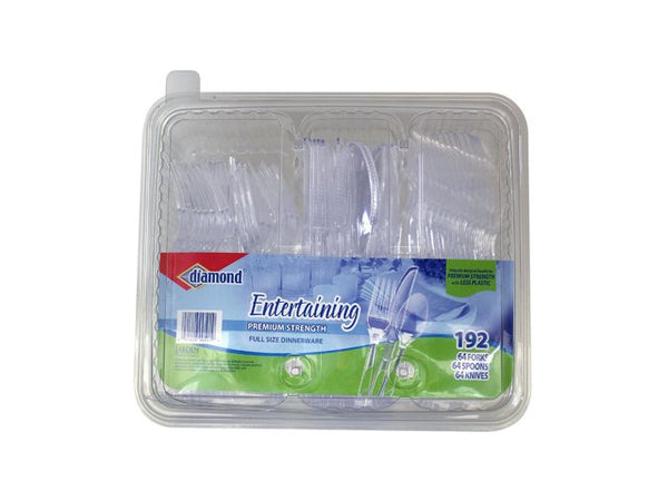 Diamond® 41426-00501 Entertaining Combo Plastic Caddy Tray With Lid, 192-Count