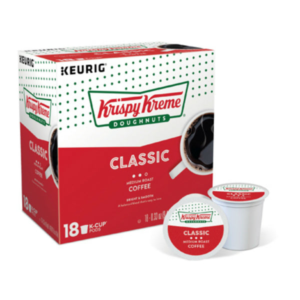 Keurig 5000203880 Krispy Kreme Doughnuts Classic Light Roast K-Cup Coffee, 18 Ct