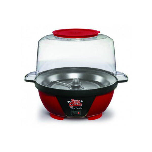 West Bend® 82505 Stir Crazy® Popcorn Popper, Red, 850 Watts, 6 Qt