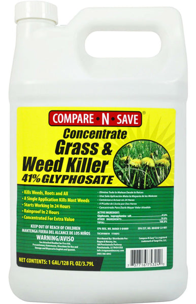 Compare-N-Save® 75324 Concentrate Grass & Weed Killer, 41% Glyphosate, 1 Gallon