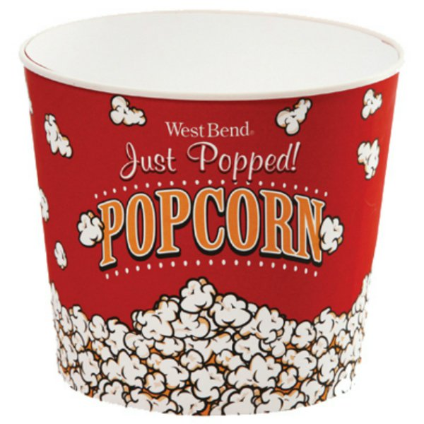West Bend® PC10631 Medium Popcorn Bucket, 3 Qt Capacity