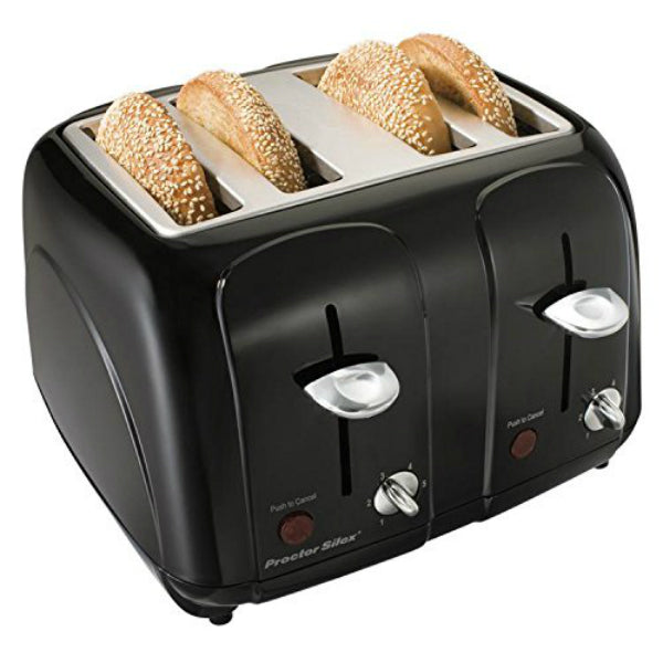Proctor Silex® 24201 4-Slice Cool Touch Toaster, Extra Wide Slot