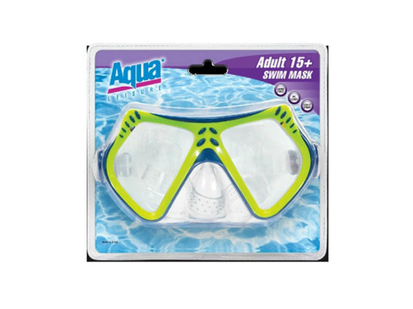 Aqua Leisure® AQM1154 Dual Lens Swim Mask for Adults
