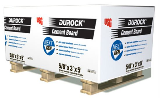 "Durock® 172967 Next Generation Cement Board, 5/8"" x 3' x 5"""