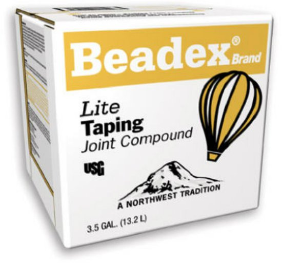 USG 385264 Beadex® Brand Lite Taping Joint Compound, 3.5 Gallon