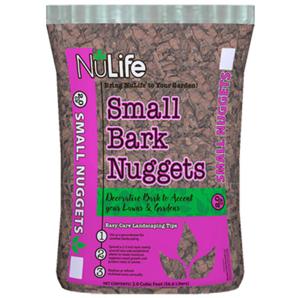 NuLife WNL03211 Small Bark Nuggets, 2 Cu.ft.