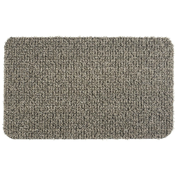 "GrassWorx™ 10372031 Flair Classic Clean Machine Scraper Mat, Earth Taupe,18""x30"""