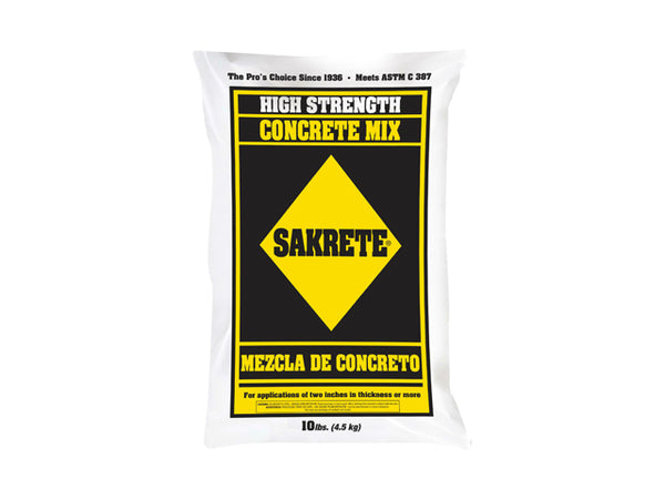 Sakrete® 65200404 High Strength Concrete Mix, 10 Lb