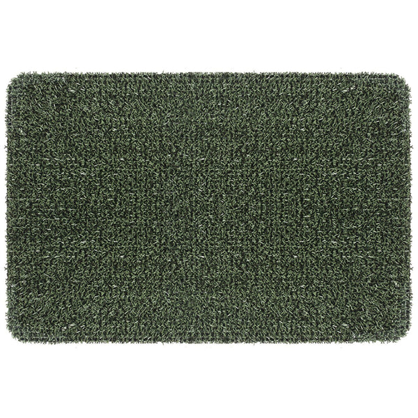 "GrassWorx™ 10372030 Flair Classic Clean Machine Scraper Mat, Evergreen, 18"" x 30"""
