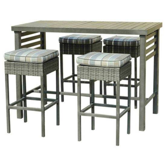 Four Seasons Courtyard S-DN036-5ST Delphi Counter Height Table & Chair Set, 5-PC