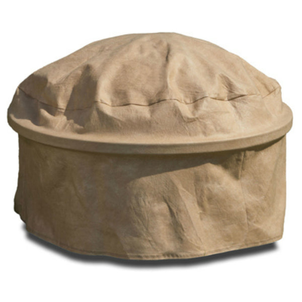 Budge P9A25SFRC-N Round Fire Pit Cover w/ 3-Layer Polypro Protection, Tan, 39""