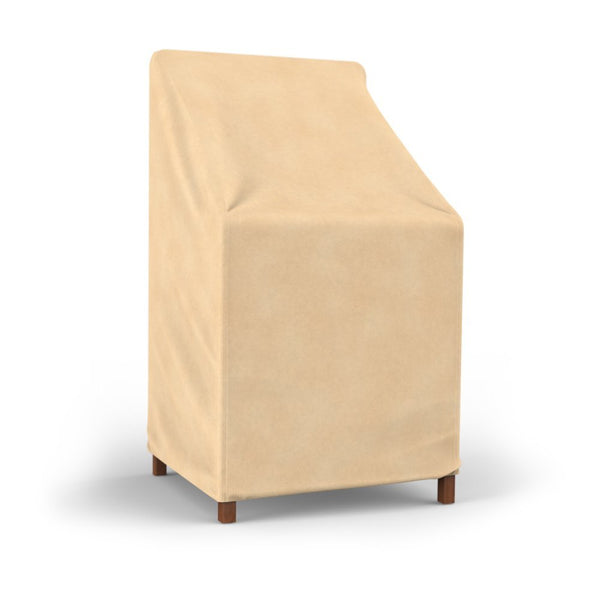 Budge P1A01SFRC-N Stack Chair & Barstool Cover w/ 3-Layer Poly Protection, Tan