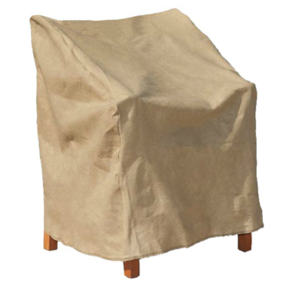 Budge P1A03SFRC-N High Back Chair Cover w/ 3-Layer Polypropylene Protection, Tan