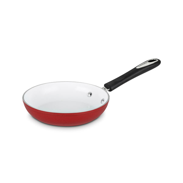 Cuisinart® 5922-24R Elements Non-Stick Aluminum/Ceramic Skillet, Red, 10""