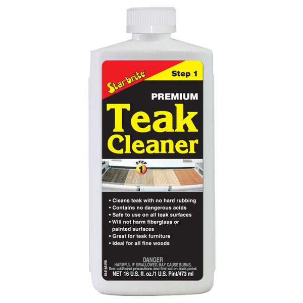 Star Brite® 81416 Premium Teak Cleaner, Step-1, 16 Oz
