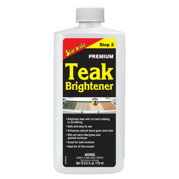 Star Brite® 81516 Premium Teak Brightener, Step-2, 16 Oz
