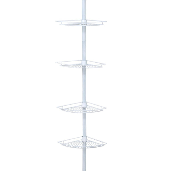 Zenith® 2114W Tub & Shower Tension Pole Caddy, White Finish, Steel